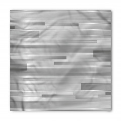 Gümüş Şerit Desenli Bandana Fular