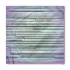 Mavi Mor Çizgili Desenli Bandana Fular