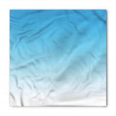 Mavi ve Beyaz Desenli Bandana Fular