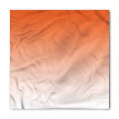 Turuncu Beyaz Desenli Bandana Fular