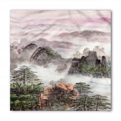 Pembe Gökyüzü Desenli Bandana Fular