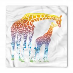 Anne ve Yavru Zürafa Bandana Fular