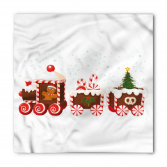Noel Treni Desenli Bandana Fular