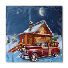 Noel Gecesi Temalı Bandana Fular