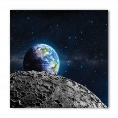 Dünya ve Ay Desenli Bandana Fular