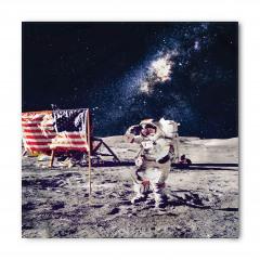 Ay'daki Astronot Temalı Bandana Fular