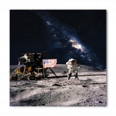Ay ve Astronot Temalı Bandana Fular