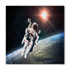 Dünya ve Astronot Bandana Fular