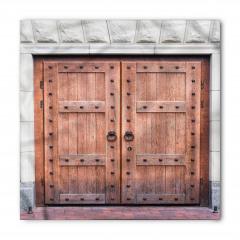 Nostaljik Ahşap Kapı Bandana Fular
