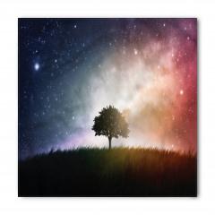 Ağaç ve Uzay Temalı Bandana Fular