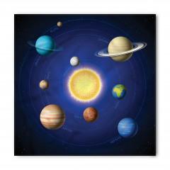 Güneş Sistemi Temalı Bandana Fular