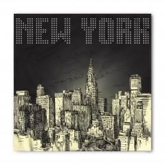 New York Temalı Bandana Fular