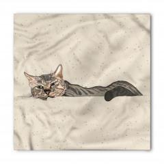 Kedi Desenli Bandana Fular