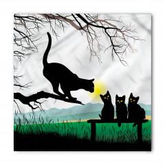 Kara Kedi Temalı Bandana Fular