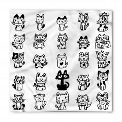 Sevimli Kedi Temalı Bandana Fular
