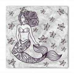 Deniz Kızı Temalı Bandana Fular
