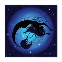 Mavi Ay ve Deniz Kızı Bandana Fular