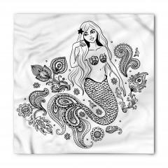 Güzel Deniz Kızı Temalı Bandana Fular