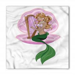 Arp Çalan Deniz Kızı Bandana Fular