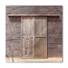 Ahşap Kapı ve Duvar Bandana Fular