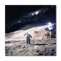 Şık Ay ve Astronot Bandana Fular