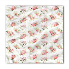 Çeyizlik Çiçek Desenli Bandana Fular