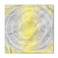 Gri Sarı Dairesel Bandana Fular