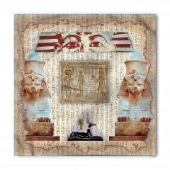 Dekoratif Antik Mısır Desenli Bandana Fular