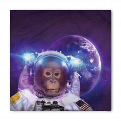 Astronot Maymun ve Dünya Bandana Fular
