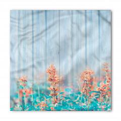 Pembe Turuncu Kır Çiçekleri Bandana Fular