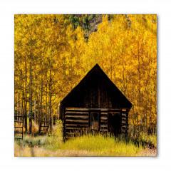 Sararmış Ağaçlar ve Ev Bandana Fular