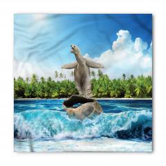 Kabuğunda Sörf Yapan Kaplumbağa Bandana Fular