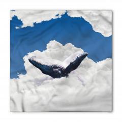 Bulutlar Üzerinde Yüzen Balina Bandana Fular
