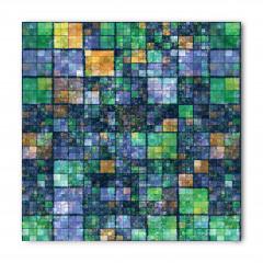 Yeşil Lacivert Mozaik Bandana Fular