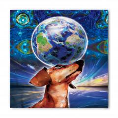 Dünya Köpeğin Başında Bandana Fular