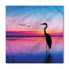 Flamingo ve Gün Batımı Bandana Fular