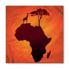 Afrika Zürafa ve Ağaç Bandana Fular