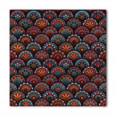 Dairesel Mozaik Desenli Bandana Fular
