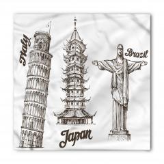 Antik Kuleler Bandana Fular
