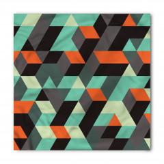Şık Geometrik Desenli Bandana Fular