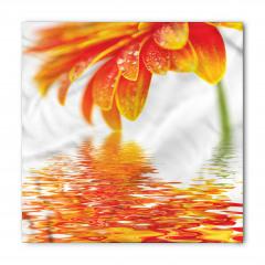 Turuncu Çiçek ve Su Bandana Fular