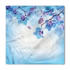 Açık Mavi Şık Çiçekler Bandana Fular