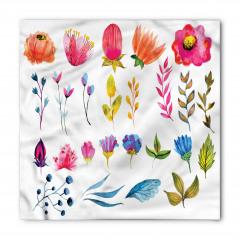 Rengarenk Şık Çiçekler Bandana Fular