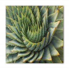 Yeşil Kaktüs Desenli Bandana Fular