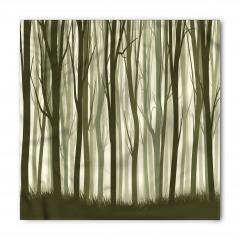Yeşil Bambu Desenli Bandana Fular