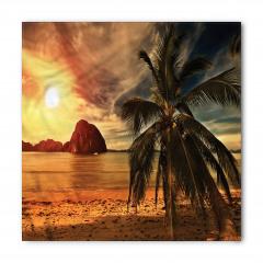Tropik Plaj Gün Batımı Bandana Fular