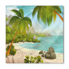 Cennet Plajında Tatil Bandana Fular