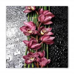 Su Damlaları ve Çiçek Bandana Fular