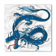 Mavi Dragon Desenli Bandana Fular