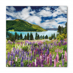 Göl Kenarındaki Çiçek Bandana Fular
